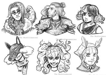 COMM: Bust Sketches - APR 2021