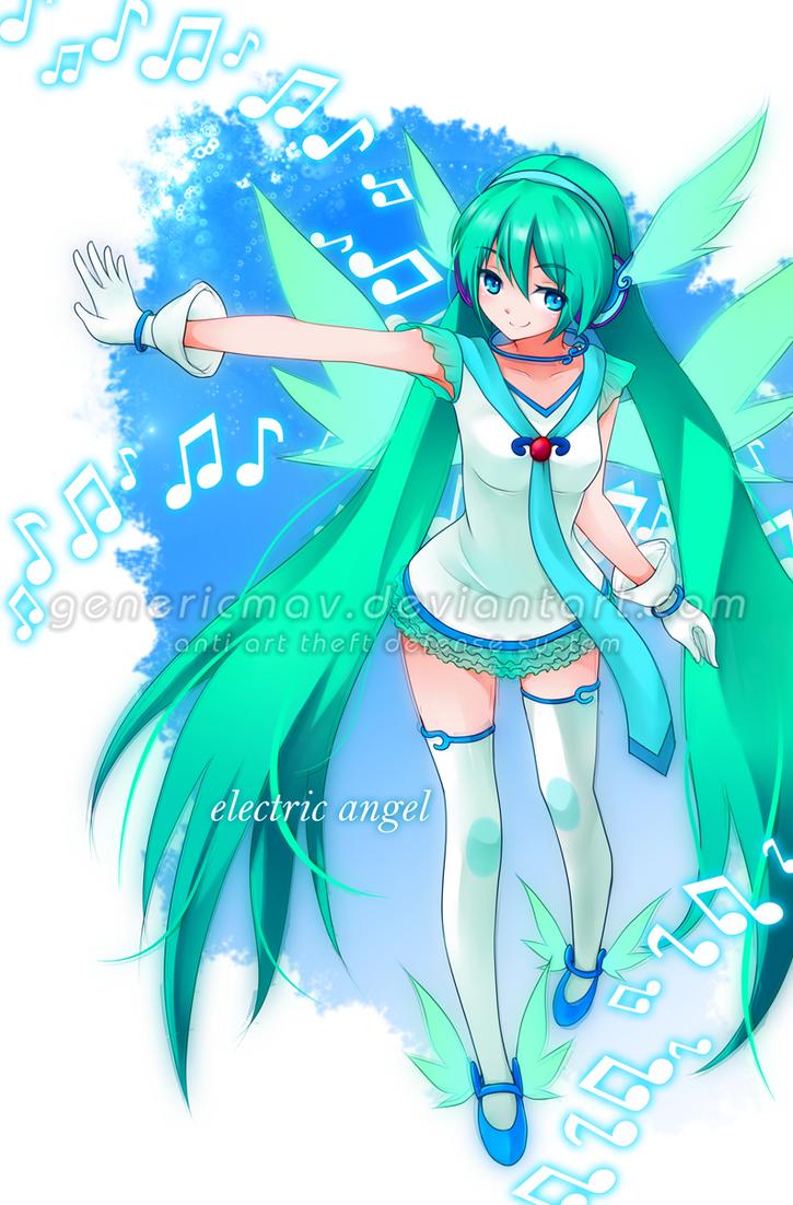 Hatsune Miku- Angel by GenericMav