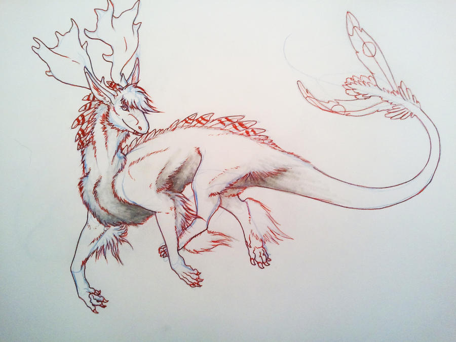 Halon Sketch WIP by InuRyoko