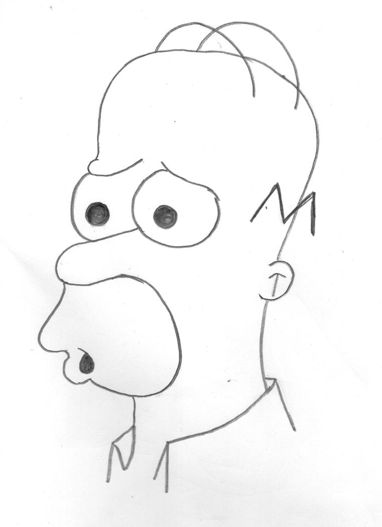 Homer J. Simpson by MangoChutney94