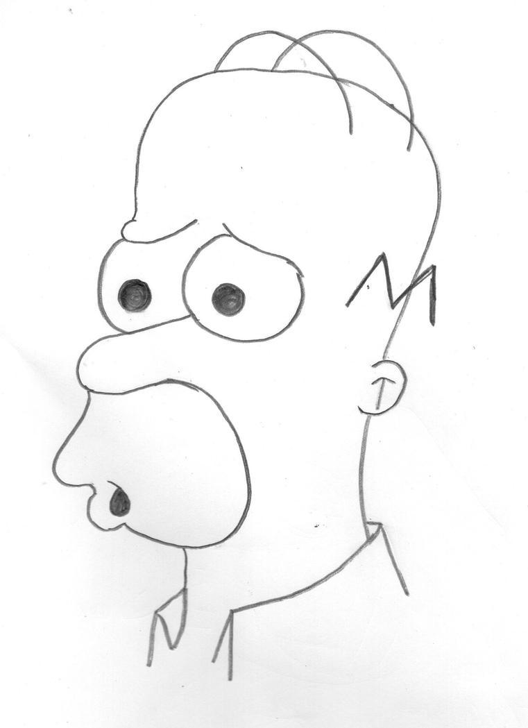 Homer J. Simpson by MangoChutney94