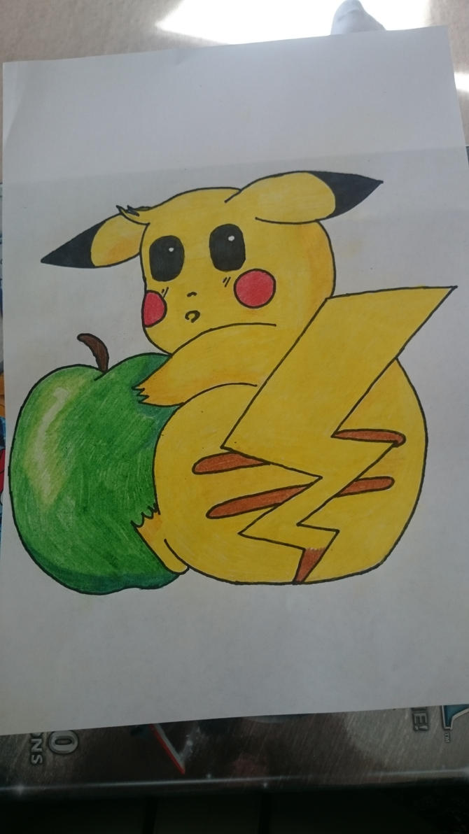 pikachu loves fruit by MangoChutney94