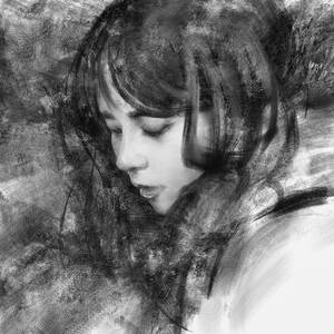 Digital Speed Painting - after Yizheng Ke