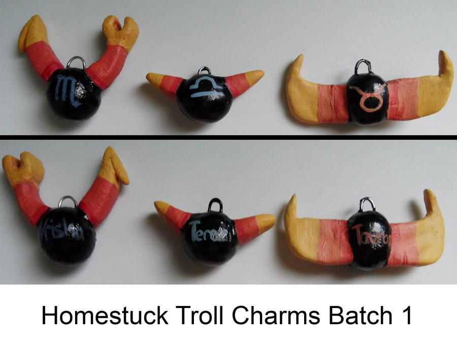 Homestuck Troll Charms Batch 1 By ZeroStatic26
