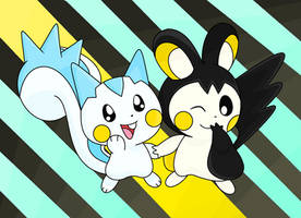 Pachirisu and Emolga by MarioSonicfans2000