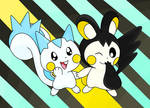 Pachirisu and Emolga
