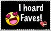 I hoard Faves Stamp by HanyouInny