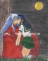 Kiss Under Moonlight by HanyouInny