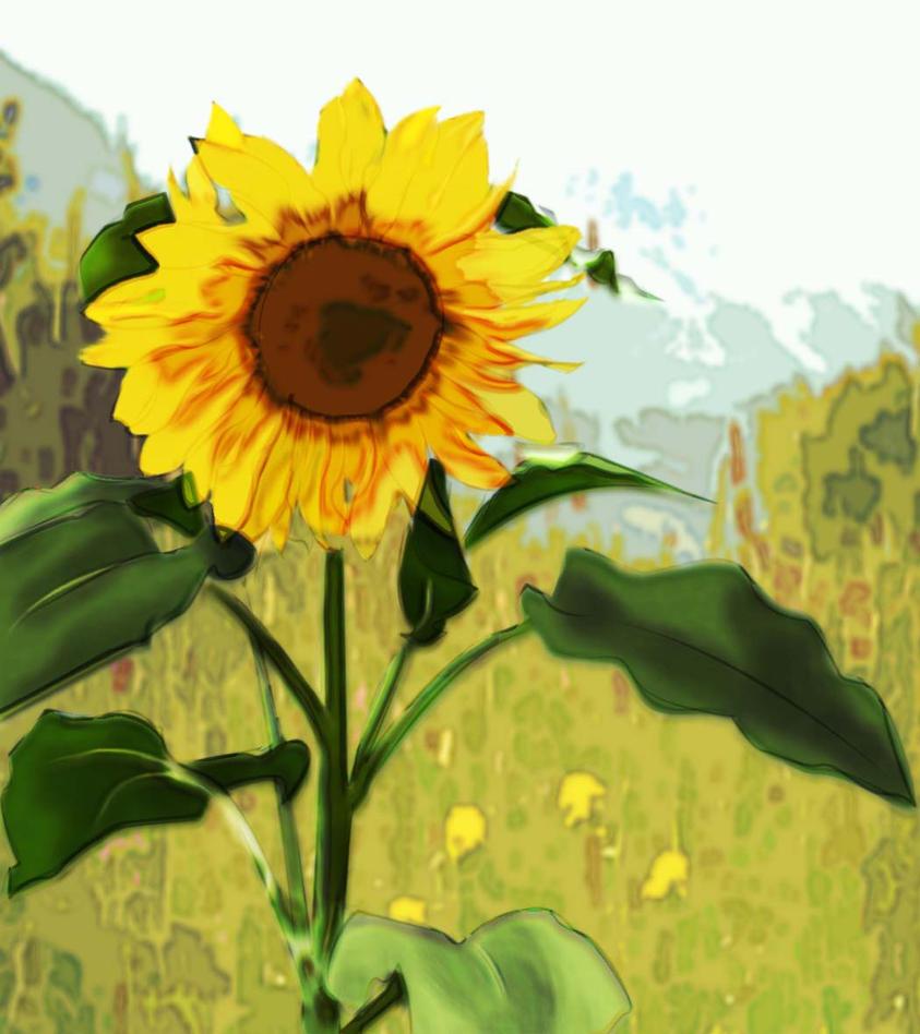 Sunflower painting.... by Celesmeh on DeviantArt