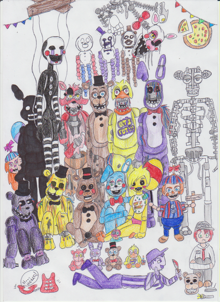 Fnaf 2 all characters by emilyladyemerald on deviantart