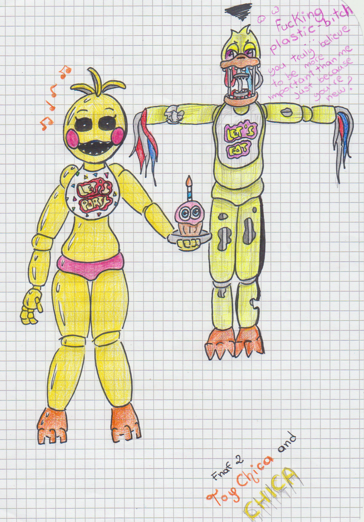 Fnaf 2 toy chica and chica by emilyladyemerald on deviantart