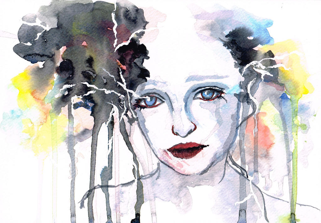 Abstract Watercolor Portraits Abstract Watercolor Portrait