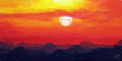0407 Sun over the mountains