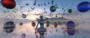 DA0903 Balls and splashes in metallic world