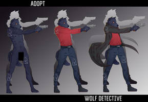 Adopt ''Wolf detective'' [AUCTION OPEN] by ArtVeterArt