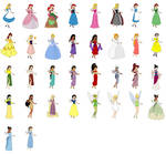 Disney girls from dress up game