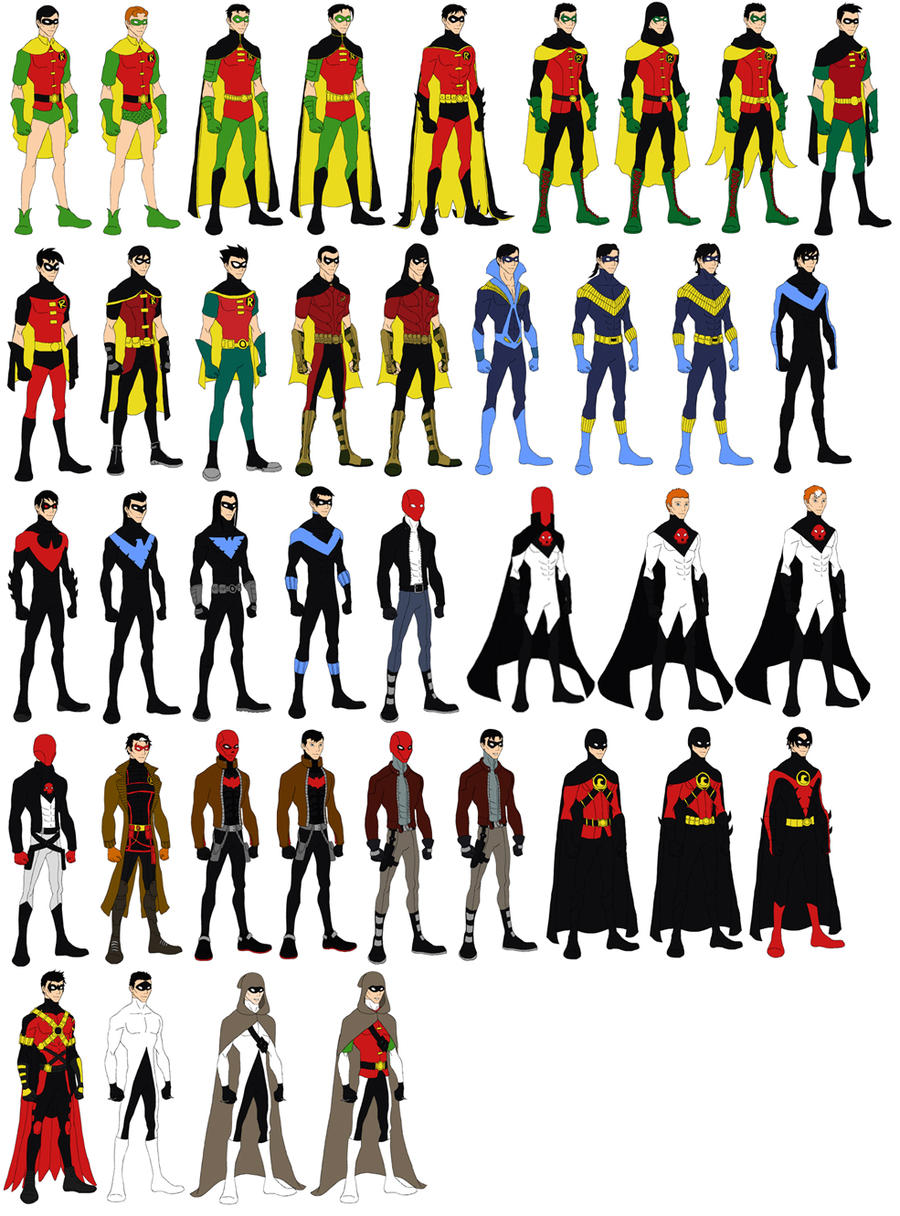 Character Design Dress Up Game : Robin dress up game character chart by evilfuzzle on