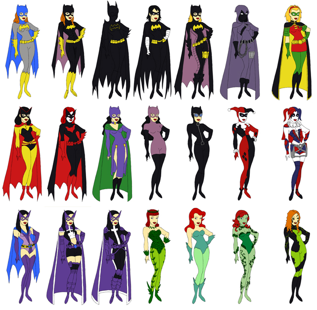 Gotham Girls Dress Up Game Character Chart By Evilfuzzle2