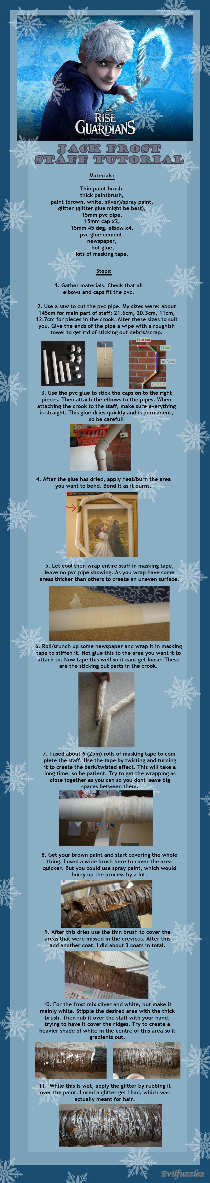 Tutorial: Jack Frost Staff by evilfuzzle2