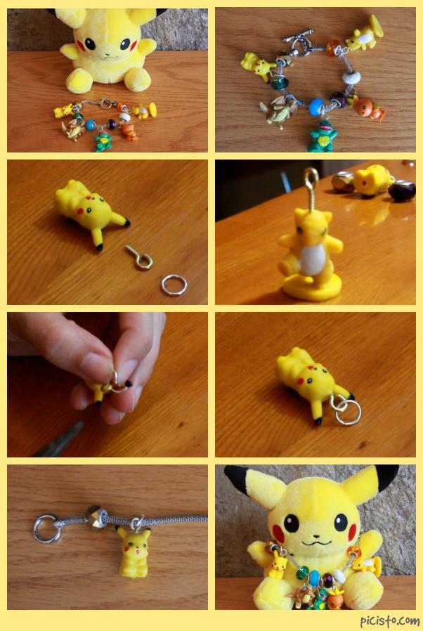 Diy pokemon charm bracelet by embelievable on deviantart