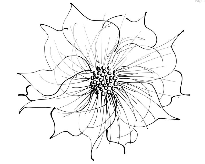 Ink Flower by klv--klv