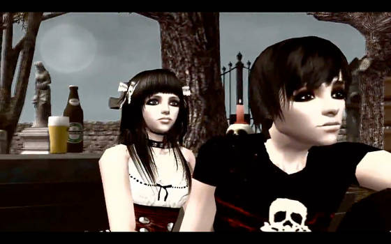 Hollywoodguy Sims Emo Movie - Remiel and Gabrielle
