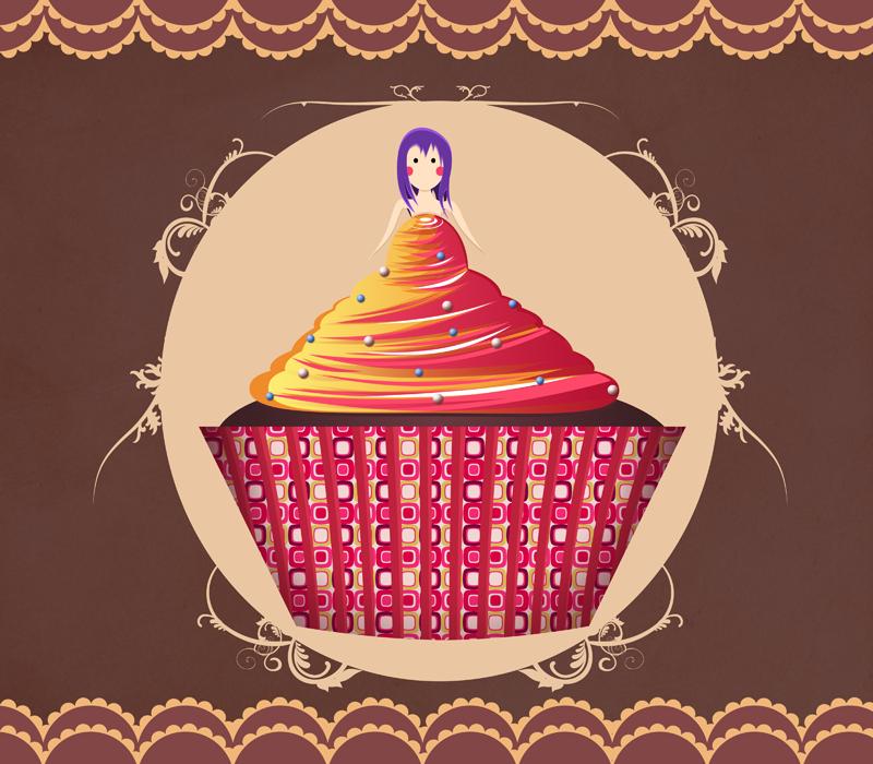 Cup Cakes : Demoiselle d'honneur. by Citronade-Arts
