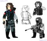 MCU - Avenger!Winter Soldier