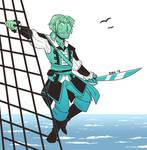 Drawtober 2020 - Ocean Blue (Day 4) by Wolfheart343