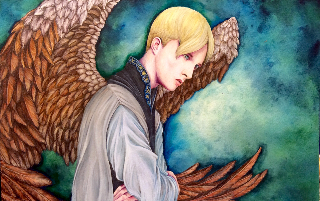 Winter Bird: veela!Draco by ceremonially-unclean on DeviantArt