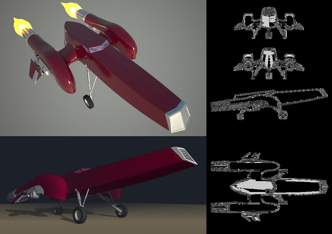 Spaceship WIP. Sketchup + Vray by raskayu77