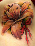 Impressionistic Lily by Tibor Galiger @ Dublin Ink