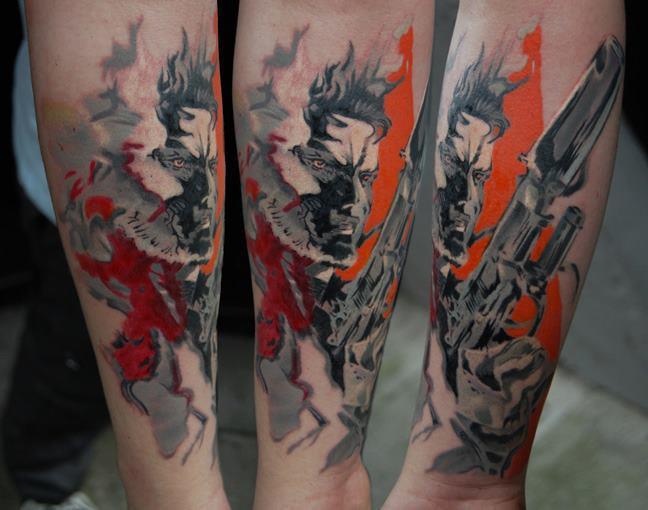 Metal Gear Solid Piece By Norbert Halasz By Dublinink On Deviantart