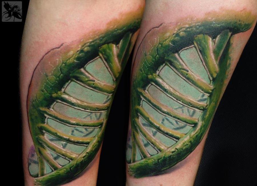 DNA strand by Gabor Jelencsik @ Dublin Ink by DublinInk