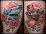 Shark and Boar by Tibor Galiger @ Dublin Ink