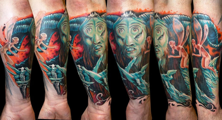 Pans labyrinth by zsolt sarkosi dublin ink by dublinink for Tattoo shops dublin