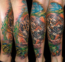 Tiger by Zsolt Sarkosi @ Dublin Ink by DublinInk