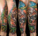 Tiger by Zsolt Sarkosi @ Dublin Ink