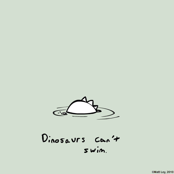 Dinosaur Facts - Swimming by DeathByStraws