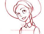 Toy Story: Jessie Sketch