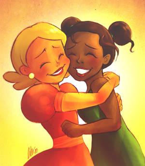 Best friends- Tia and Lottie