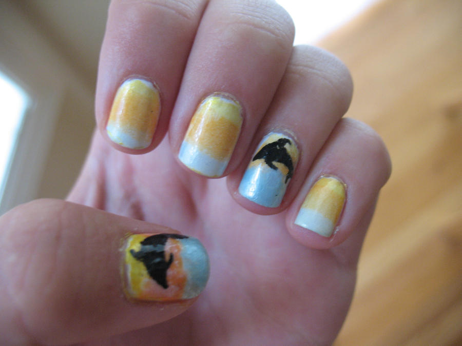 Dolphin nail art by doubledutcher1 on DeviantArt