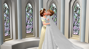 Anna x Rapunzel wedding 1
