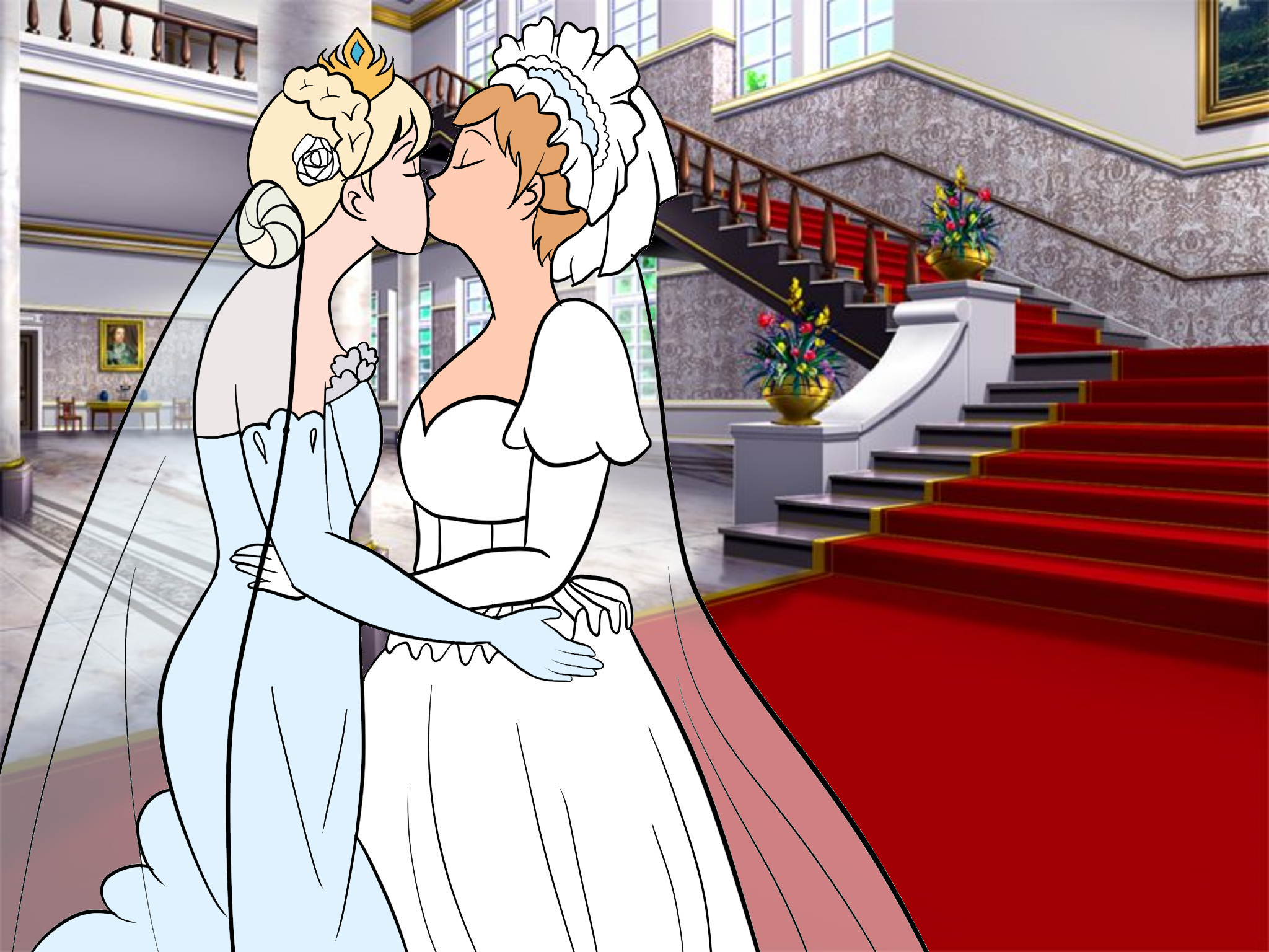 Elsanna wedding drawing 11 by Arendellecitizen