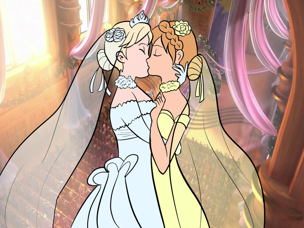 Elsanna wedding drawing 13 by Arendellecitizen