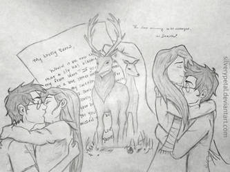 James Potter and Lily Evans. by pyraumus