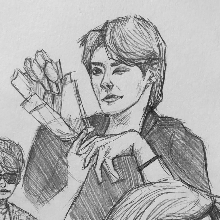Hongjoong Sketch by pyraumus