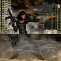 Rooftop firefight by Dom-Graphcom
