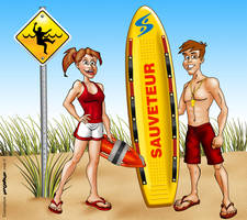 Lifeguards graphic mascots by Dom-Graphcom