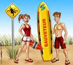 Lifeguards graphic mascots